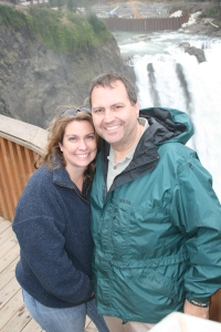 Anne and Craig at Snoqualmie Falls