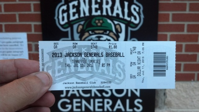 Thirsty Thursday at the Jackson Generals Game.  Mariners AA Affiliate