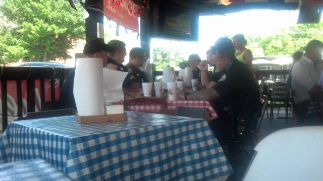 A good time to commit a crime, I think every cop in Chattanooga was at lunch at Champy's