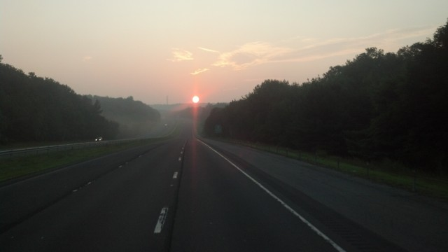 Sunrise on the Massachusetts / Connecticut border