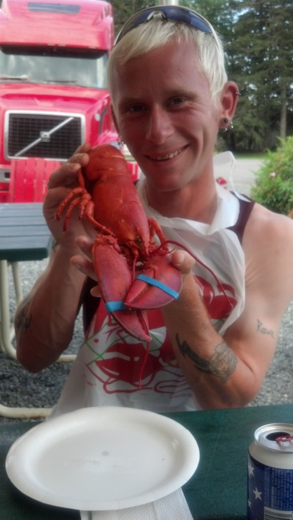 Danny with his first ever lobster