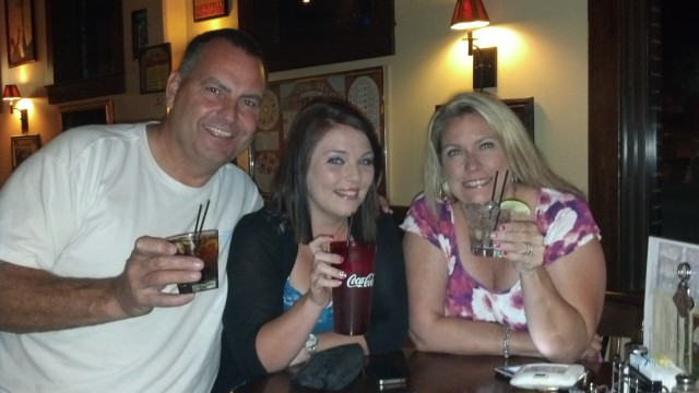 Ten Minutes until 21 and hanging with her evil parents (note the ice water for Shelby)
