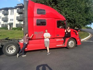 Our pretty red truck