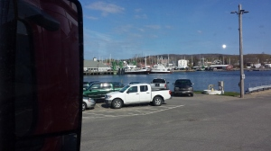 Unloading in Rockland Maine