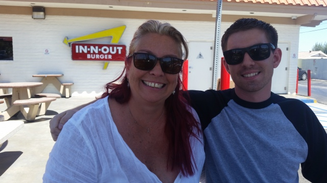 Anne and Tyler at In-N-Out.  Happy